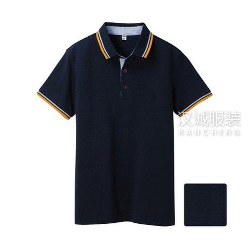 藏蓝色纯棉T恤衫