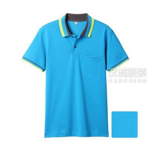 浅蓝色纯棉T恤衫