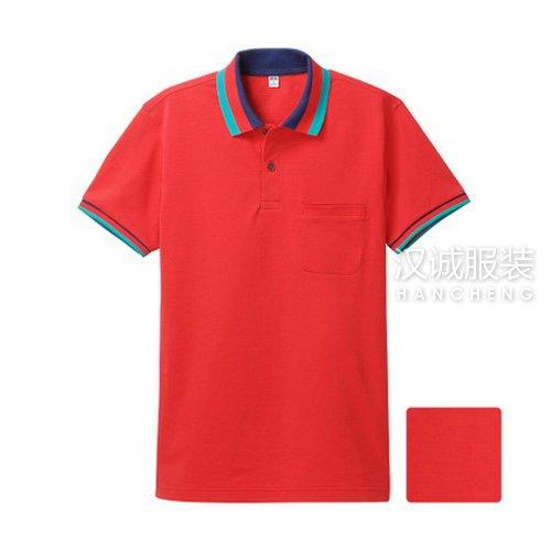 大红色纯棉T恤衫