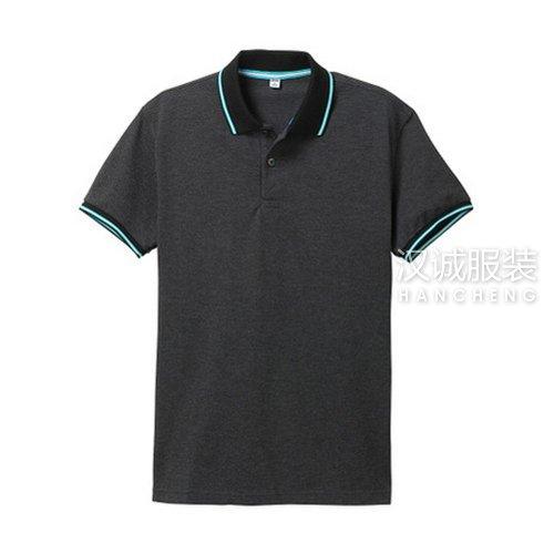 麻黑色纯棉T恤衫