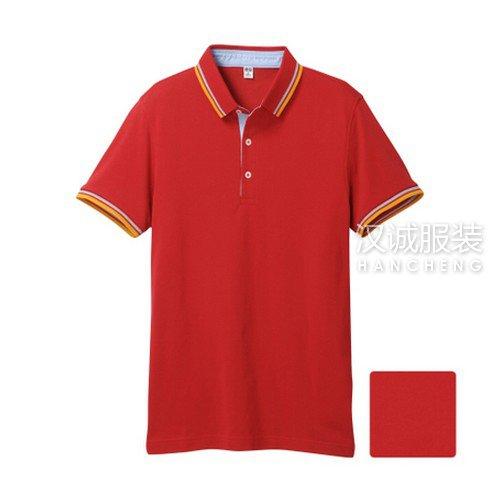 红色纯棉T恤衫