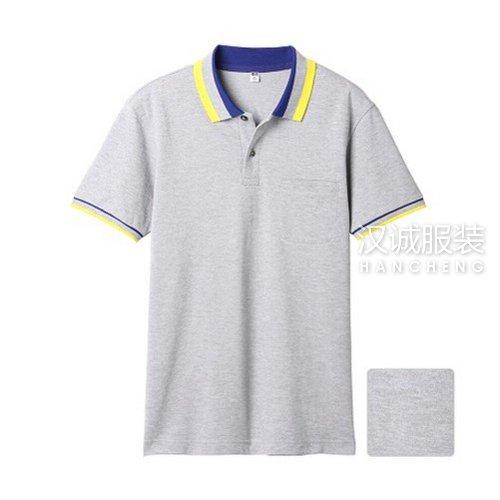 麻灰色纯棉T恤衫